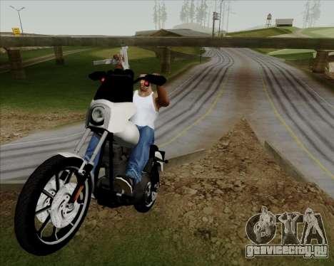 Harley-Davidson FXD Super Glide T-Sport 1999 для GTA San Andreas вид изнутри