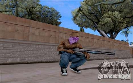 Blueline Gun Pack для GTA San Andreas второй скриншот