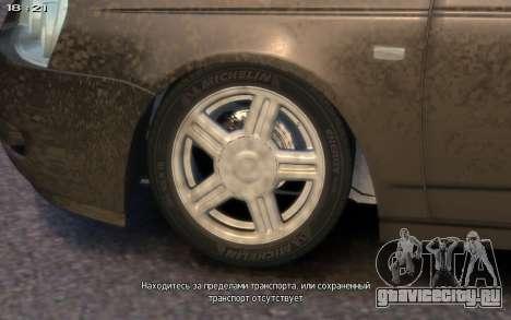 Lada 2172 для GTA 4 вид изнутри