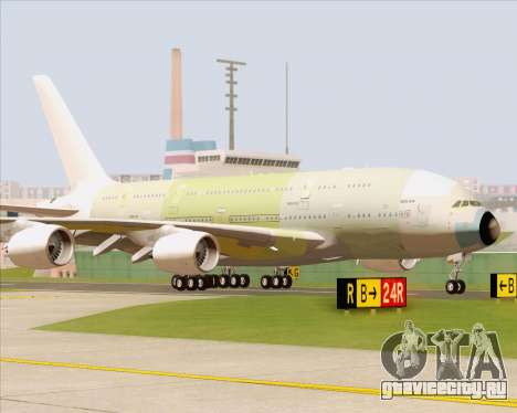 Airbus A380-800 F-WWDD Not Painted для GTA San Andreas вид слева