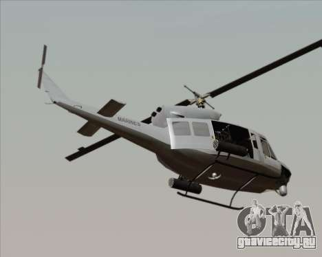 Bell UH-1N Huey USMC для GTA San Andreas вид слева
