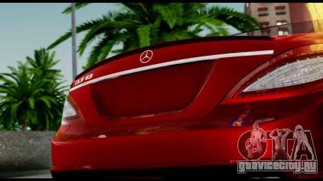 Mercedes-Benz CLS 63 AMG 2010 для GTA San Andreas вид сверху