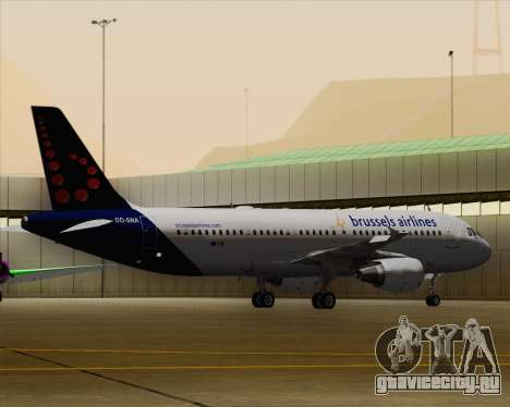 Airbus A320-200 Brussels Airlines для GTA San Andreas вид снизу