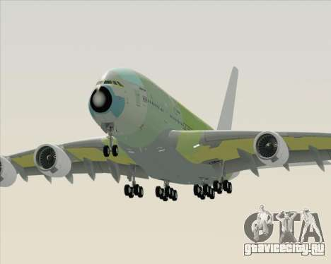Airbus A380-800 F-WWDD Not Painted для GTA San Andreas вид сбоку