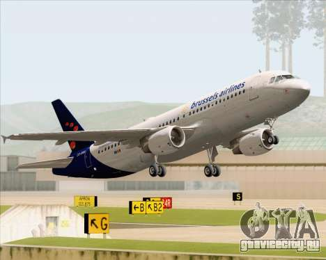 Airbus A320-200 Brussels Airlines для GTA San Andreas колёса