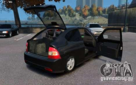 Lada 2172 для GTA 4 вид справа
