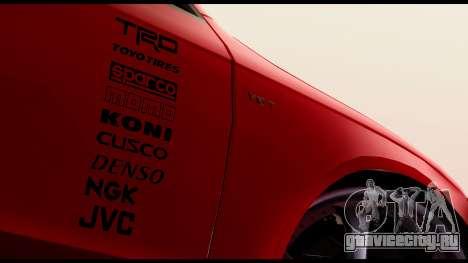 Audi S4 2010 Blacktop для GTA San Andreas вид сзади слева