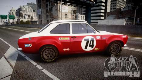 Ford Escort RS1600 PJ74 для GTA 4 вид слева
