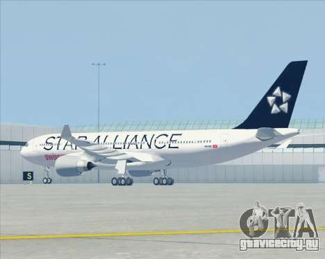 Airbus A330-200 SWISS (Star Alliance Livery) для GTA San Andreas вид сзади