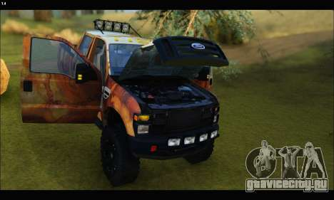 Ford F-250 Rusty Lifted 2010 для GTA San Andreas вид сбоку
