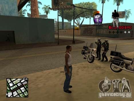 C-HUD by Alesha для GTA San Andreas второй скриншот