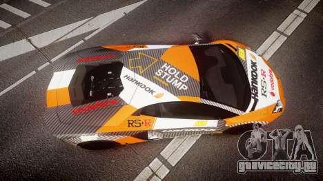 Lamborghini Aventador 2012 [EPM] Hankook Orange для GTA 4 вид справа