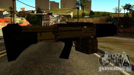 Combat MG from GTA 5 для GTA San Andreas второй скриншот