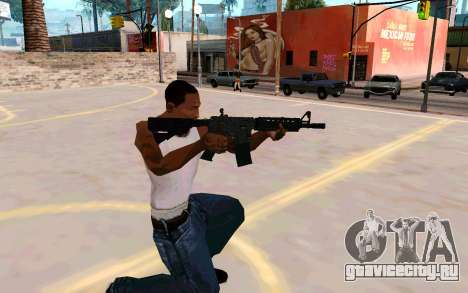 M4A1 (Dodgers) для GTA San Andreas третий скриншот