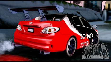 Toyota Corolla 2012 LOJACK Racing для GTA San Andreas вид слева