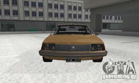 Renault 18 для GTA San Andreas вид сзади слева