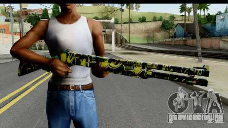 Grafiti Shotgun для GTA San Andreas третий скриншот