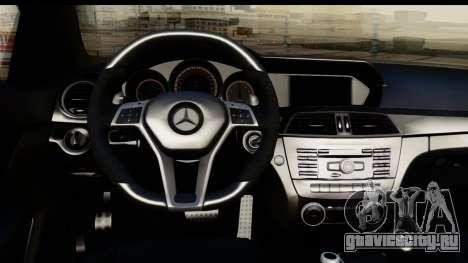 Mercedes-Benz C63 AMG 2012 Black Series для GTA San Andreas вид сзади