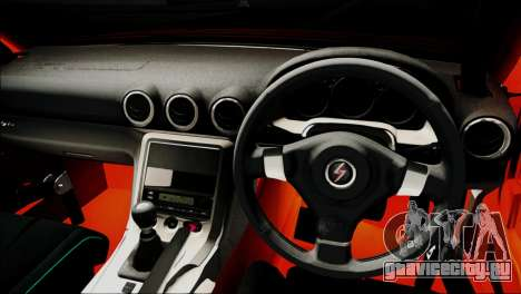 Nissan Silvia S15 Varietta для GTA San Andreas вид сзади