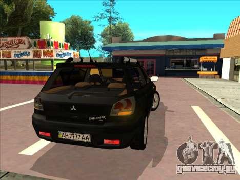Mitsubishi Outlander для GTA San Andreas вид сбоку