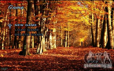Осеннее Меню для GTA San Andreas второй скриншот