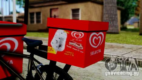 Selecta Ice Cream Bike для GTA San Andreas вид сзади слева