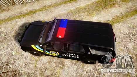 Chevrolet Tahoe 2010 Sheriff Bohan [ELS] для GTA 4 вид справа