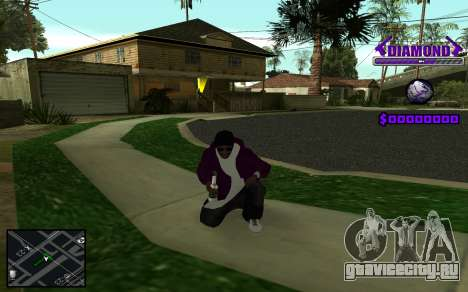 C-HUD Diamond Gangster для GTA San Andreas