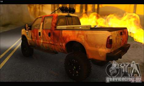 Ford F-250 Rusty Lifted 2010 для GTA San Andreas вид сзади