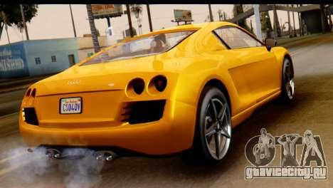 GTA 5 Obey 9F Coupe для GTA San Andreas вид слева
