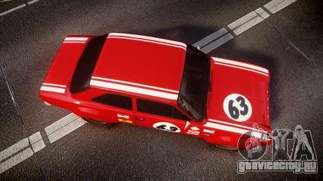 Ford Escort RS1600 PJ63 для GTA 4 вид справа