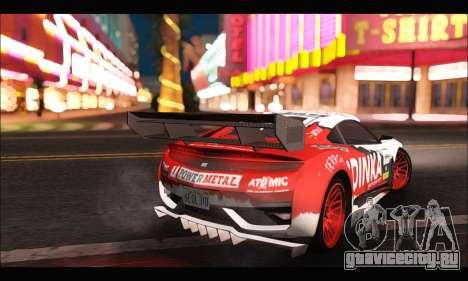 Dinka Jester Racear (GTA V) для GTA San Andreas вид сзади слева