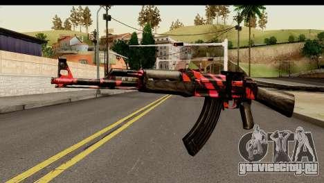Red Tiger AK47 для GTA San Andreas
