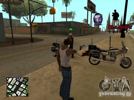 C-HUD by Alesha для GTA San Andreas третий скриншот