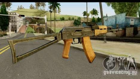 АКС-74 из Светлого Дерева для GTA San Andreas второй скриншот