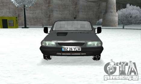 Dacia 1305 Papuc Pick-Up Drop Side 1.9D для GTA San Andreas вид сзади