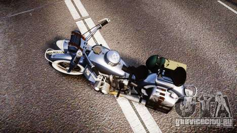 BMW R75 black-and-whites tires для GTA 4 вид справа