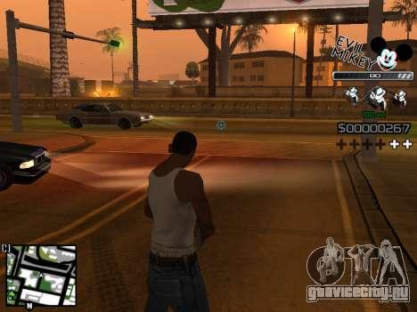 C-HUD Evil Mickey для GTA San Andreas третий скриншот