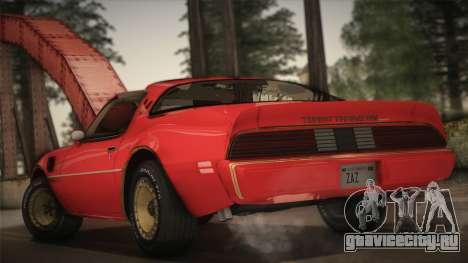 Pontiac Turbo Trans Am 1980 Bandit Edition для GTA San Andreas вид слева