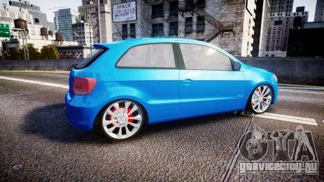 Volkswagen Gol G6 iTrend 2014 rims2 для GTA 4 вид слева