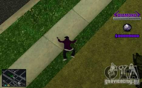 C-HUD Diamond Gangster для GTA San Andreas седьмой скриншот