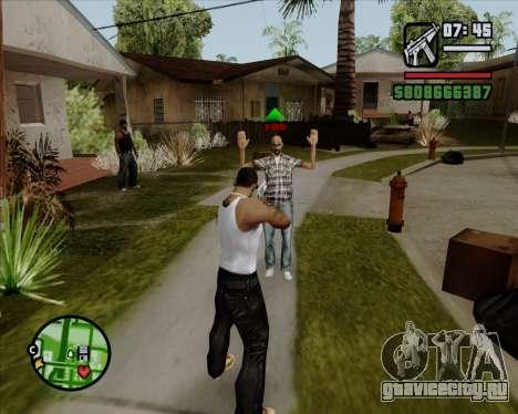 Цифровой показатель жизни противников для GTA San Andreas