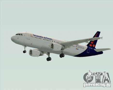 Airbus A320-200 Brussels Airlines для GTA San Andreas вид справа
