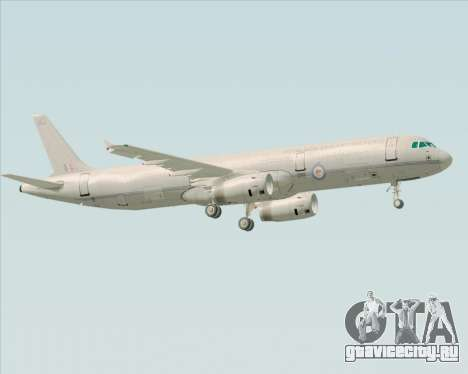 Airbus A321-200 Royal New Zealand Air Force для GTA San Andreas вид справа