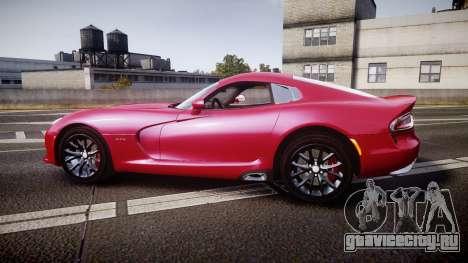 Dodge Viper SRT 2012 для GTA 4 вид слева