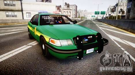 Ford Crown Victoria Sheriff [ELS] green для GTA 4
