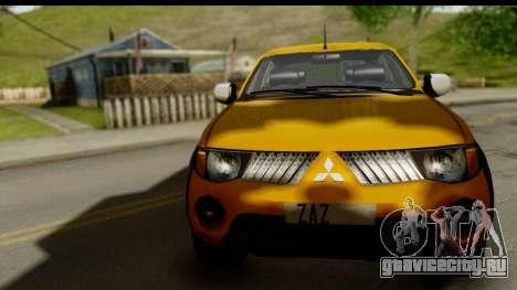 Mitsubishi L200 Triton v1.0 для GTA San Andreas вид сзади слева