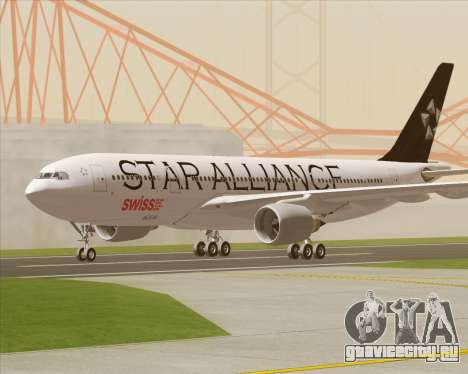 Airbus A330-200 SWISS (Star Alliance Livery) для GTA San Andreas вид изнутри