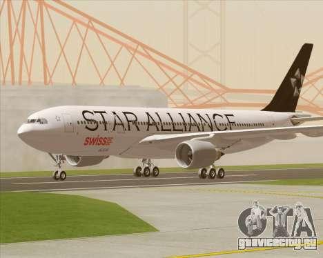 Airbus A330-200 SWISS (Star Alliance Livery) для GTA San Andreas вид изнутри