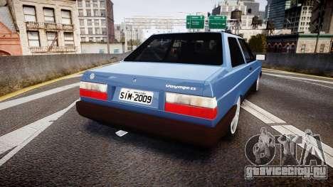 Volkswagen Voyage 1990 для GTA 4 вид сзади слева
